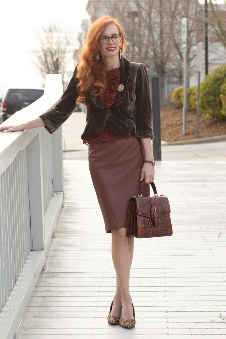 Turning Heads Linkup-Textured Look with Lace, Velvet, and Faux Leather - Elegantly Dressed and Stylish -Fashion Over 50
