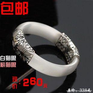 Чистого серебра ювелирные изделия LAOYINJIANG ручной работы тайские серебро винтаж yinzhuo женская чистого серебра браслет белый лунный камень