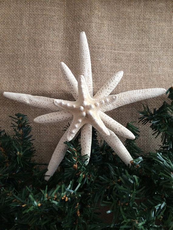 Skinny and Knobby Starfish tree topper by SeaToLandDesigns on Etsy