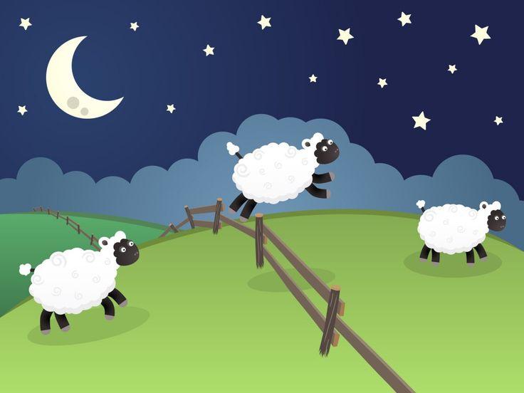 Counting Sheep Cartoon Counting sheep insomnia