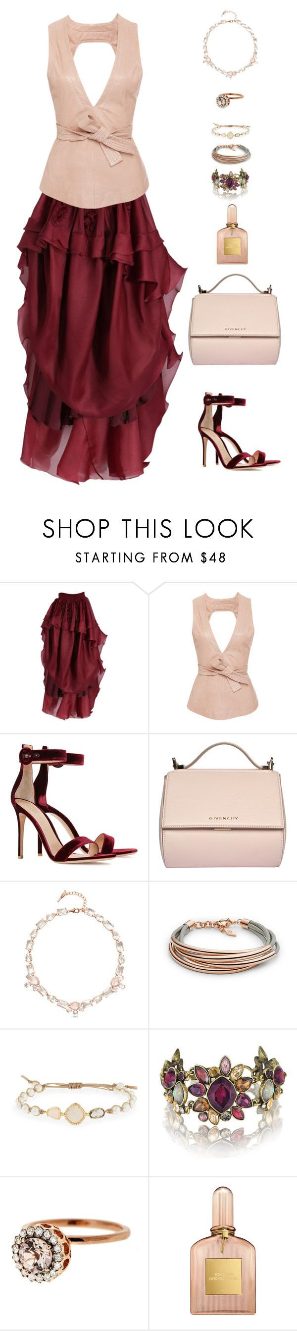 """""""Untitled #678"""" by stacy-hardy ❤ liked on Polyvore featuring Antonio Berardi, Marissa Webb, Gianvito Rossi, Givenchy, Chloe + Isabel, FOSSIL, Tai, Selim Mouzannar and Tom Ford"""