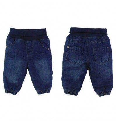Jual Celana Bayi Anak Topomini - Dark Blue Waist Jeans with Cotton Layer - Baju bayi anak branded import Topomini - Dark Blue Waist Jeans with Cotton Layer