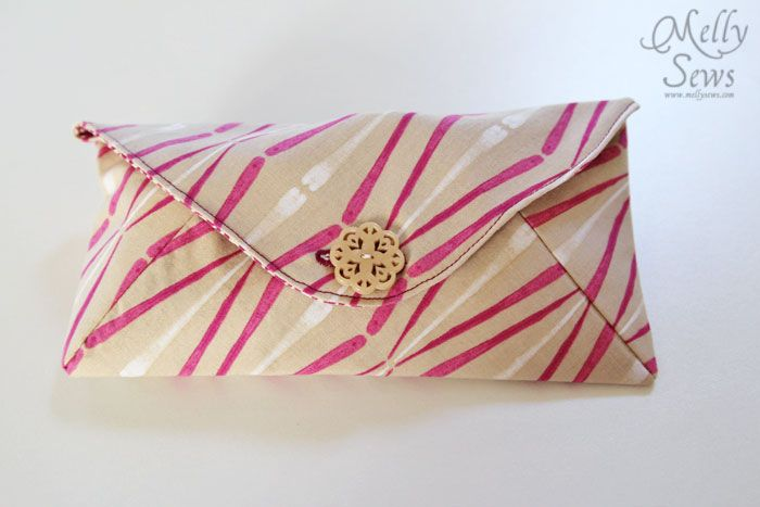 Letter Sized Envelope Clutch - Melly Sews