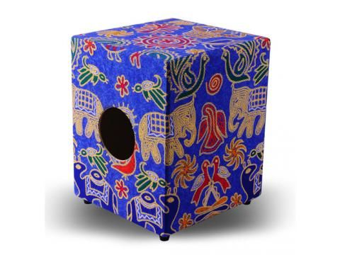 IQ Plus Tribal Series Cajon - Blue Elephant Design - BC Wholesalers. High Quality Cajon specially designed for Early Learning. #cajon #percussion #drummer