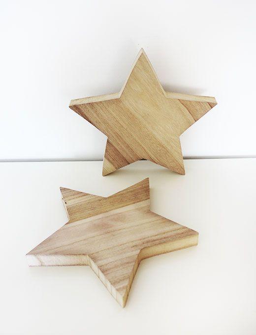 Estrella de madera decoraci n pinterest estrellas de madera madera y madera navidad - Adornos navidenos de madera ...