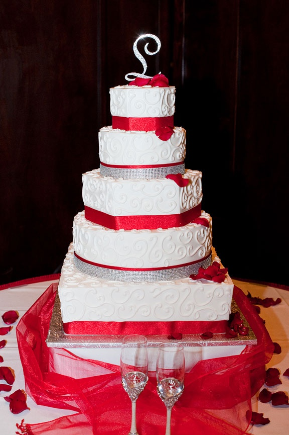 Wedding Cakes In Red