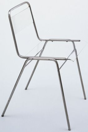 """Chair       Don Wallance (American, 1909–1990)                                              1938. Molybdenum alloy and lucite, 27 1/2 x 18 x 16 1/2"""" (69.9 x 45.7 x 41.9 cm)."""