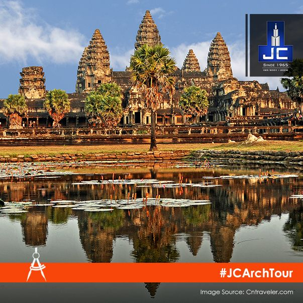 Constructed in the early 12th century by the Khmer King Suryavarman II, Angkor Wat is the largest religious monument in the world. It also appears on the national flag of Cambodia. #JCArchTour