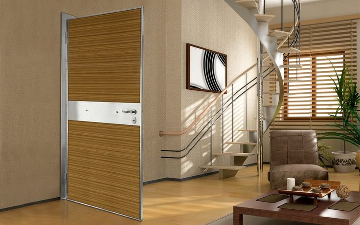 ΠΟΡΤΕΣ ΑΣΦΑΛΕΙΑΣ Golden Door :: Νέο Design ::Πόρτα ασφαλείας με επένδυση από φυσικό ξύλο ζεμπράνο και inox