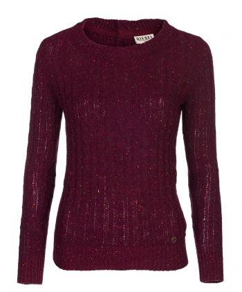 Candice Grape Wine  Price: € 39.00  Diesel ladies fleck cable sweater.