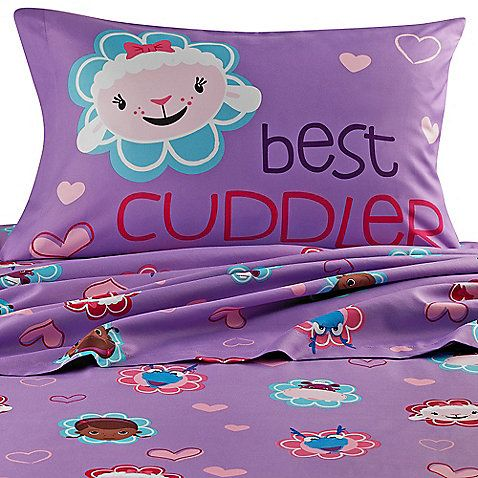 This Doc McStuffins sheet set is a great way to update your little one's bedroom. These sheets are super soft and coordinate perfectly with the Doc McStuffins comforter.