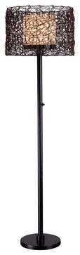 Kenroy 32220BRZ Tanglewood Outdoor Floor Lamp - transitional - outdoor lighting - Lighting Front