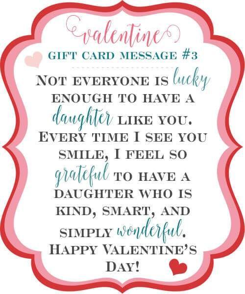 10 Sweet Valentine Gift Card Message Ideas   Valentines ...