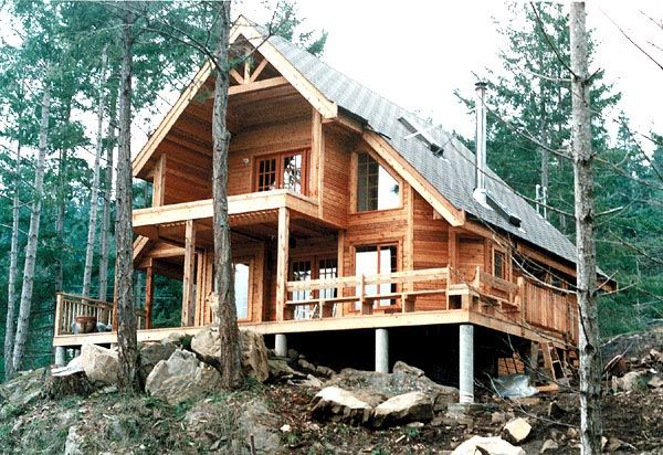 Cabin Contemporary House Plan 76001 Country Lofft Ideas
