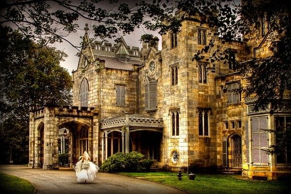 Lyndhurst Castle in Tarrytown, New York ~ Have a fairytale wedding at this historic mansion, which was originally home to New York mayor William Paulding, Jr. in the 1820's. Forty minutes outside of Manhattan on the banks of the Hudson River, this castle-like Gothic Revival home is truly fit for a Woodland Fairy.