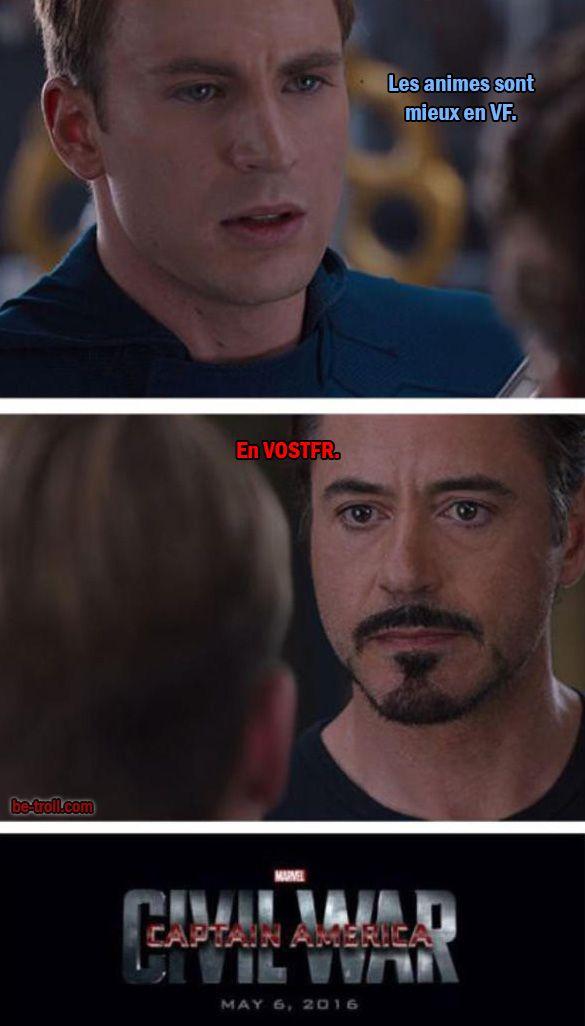 Si ça avait vraiment été leur sujet de discorde, j'aurais  été Team Iron Man