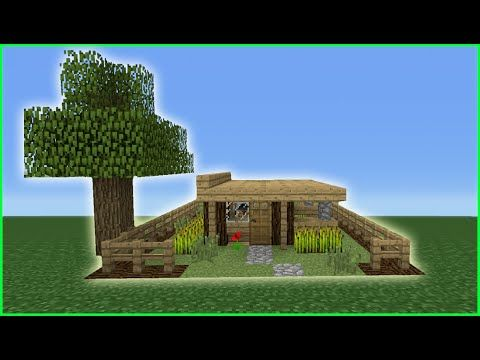 Minecraft Tutorial: How To Make The Smallest Survival House EVER!   YouTube