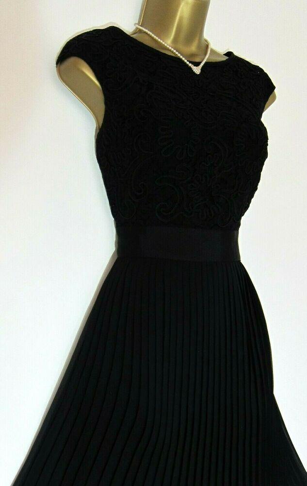 Ted Baker New Aliana Dress Uk 10 2 Wedding Party Black