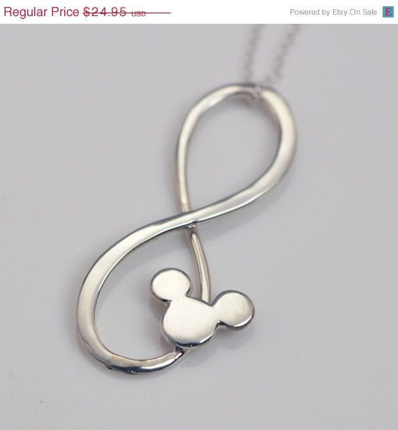 ON SALE Infinity Pendant  Mickey Necklace  by TheJewelryGirlsPlace, $19.96 @Jordan Bromley Bromley Bromley Fisher