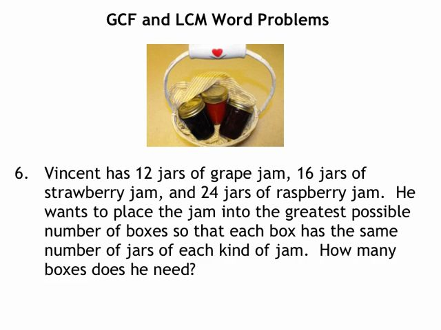 relationship between gcf and lcm word