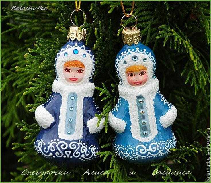 Купить Снегурочки Алиса и Василиса - снегурочка, елочные игрушки, елочные украшения, новогоднее украшение