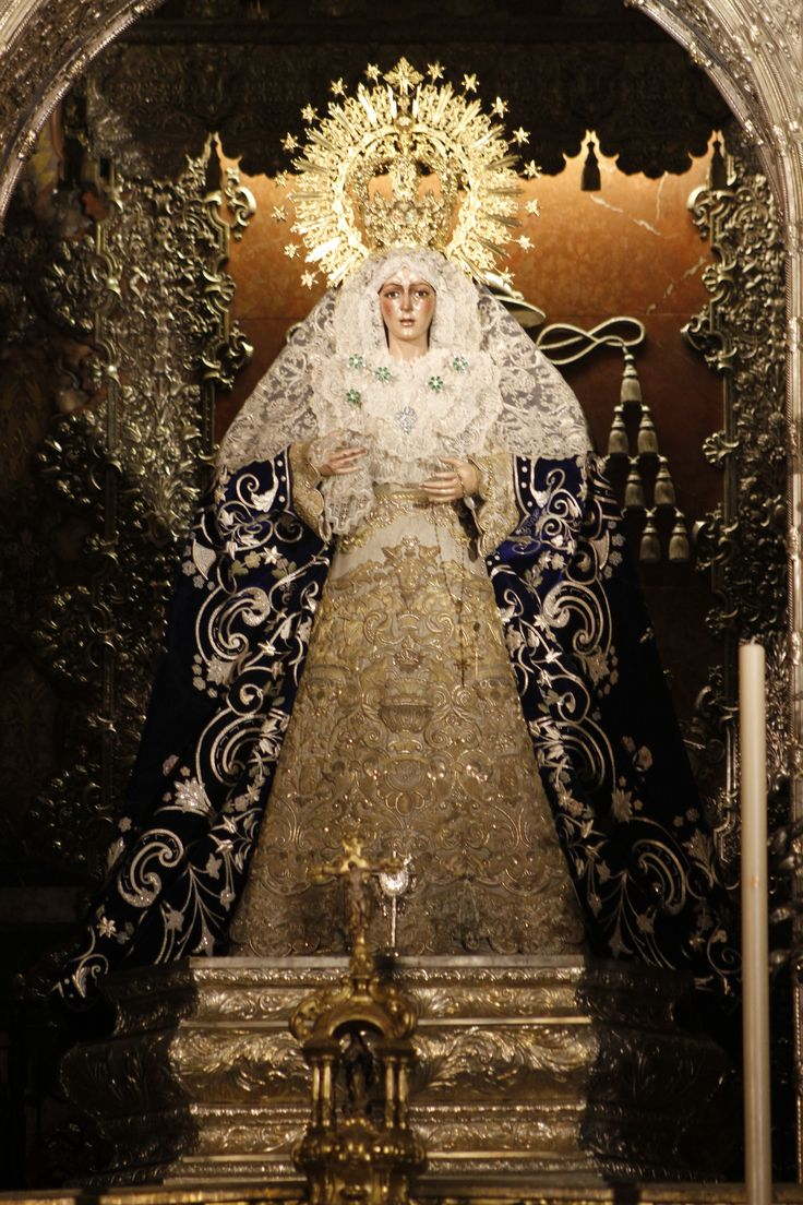 Virgen de la Macarena, La Esperanza, the weeping statue of the Virgin Mary [tears made of glass]