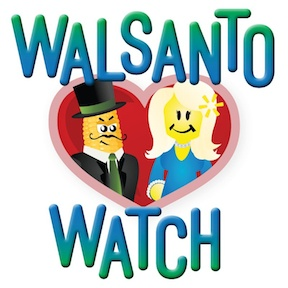 Will Monsanto win Walmart's love with his GE sweet corn? Or will Walmart resist his advances? Follow the latest corporate couple.