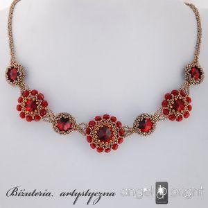 Naszyjnik Romantyczne Kryształy - Rubinowy