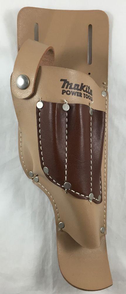 Makita Holster Cordless Impact Drill Leather Tool Belt Snap Loops Bit Pockets #Makita