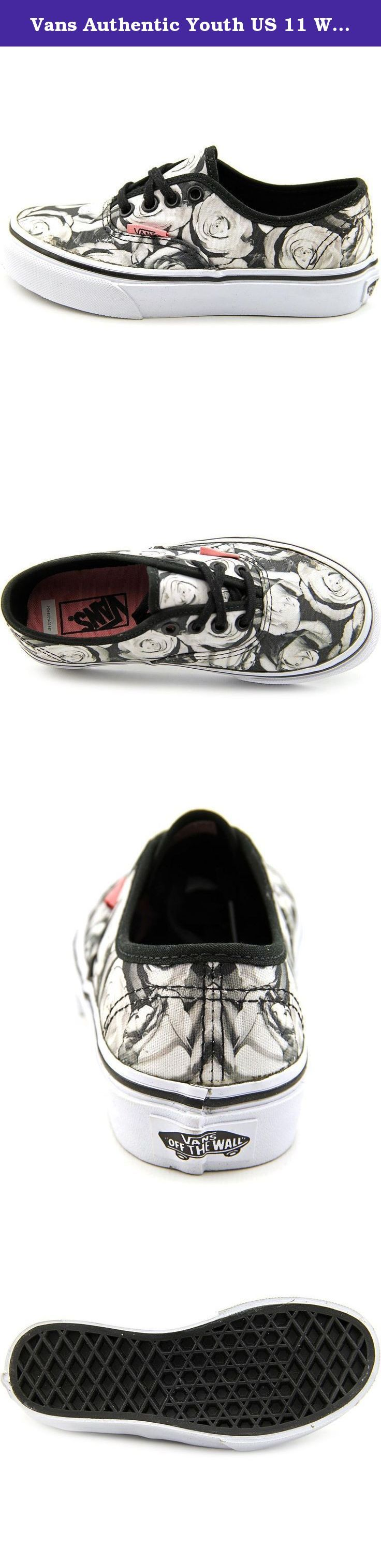 Vans Authentic Youth US 11 White Athletic Sneakers. The Vans Authentic Casual Shoes feature a Canvas upper with a . The Man-Made outsole lends lasting traction and wear.