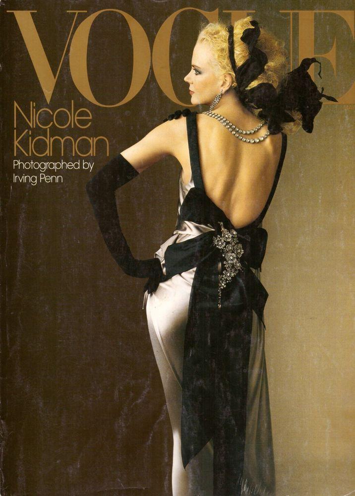 2004 Vogue Magazine Nicole Kidman Irving Penn Stephen Sprouse Alex Rodriquez