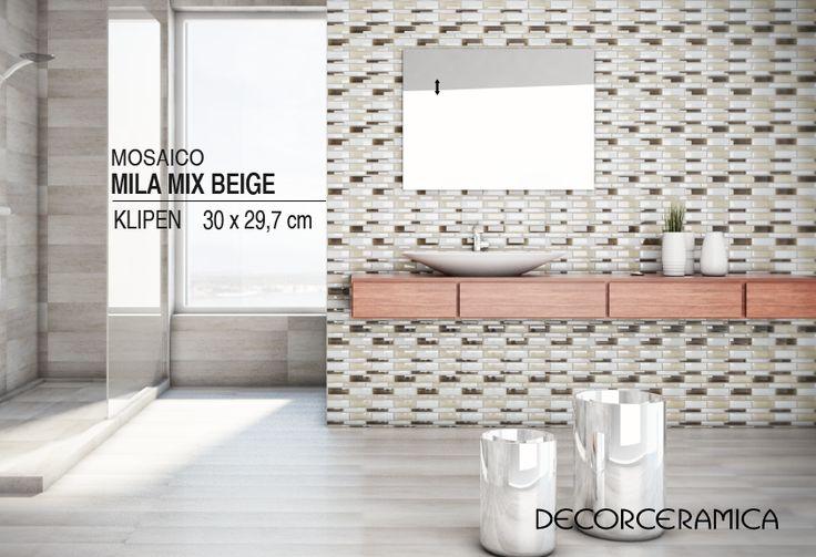 Te presentamos este mosaico que incorpora diversos tonos beige y texturas dinámicas que parecen desplazarse constantemente