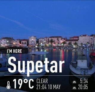 ...and amazing evening walk on the Riva boulevard Supetar, island Brac, Croatia