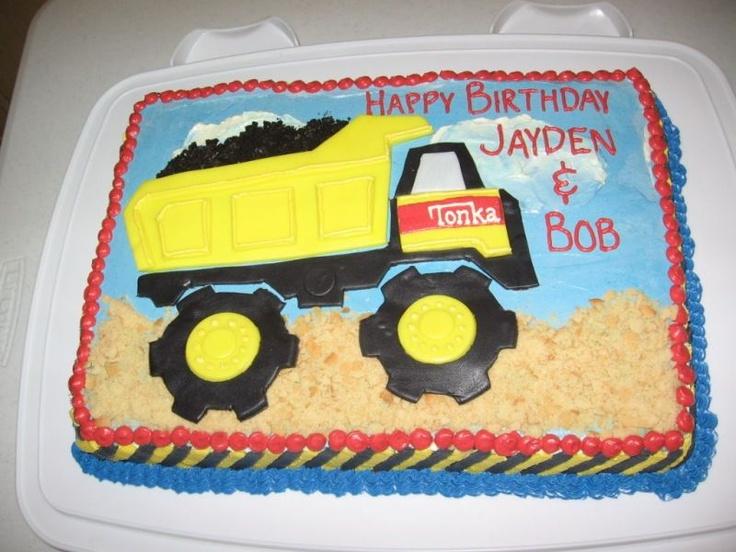 Tonka truck cupcake cake
