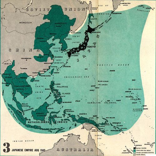 Map of Japanese Empire 1942  What is the total population of the Japanese controlled empire? It might be close to that of the British Empire, and larger than that of the French or Dutch?