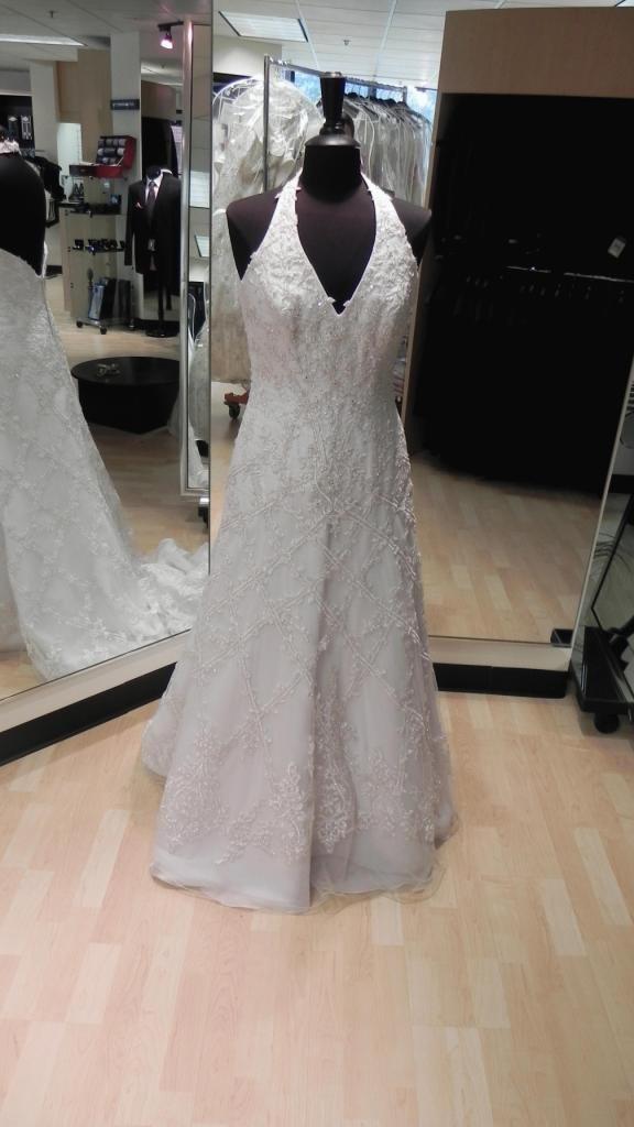 Bridals By Lori Bd Lc Halter W Lattice Train Size 10 Color White