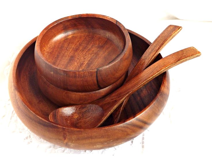 wood salad bowl set vintage wooden salad bowl retro kitchen and dining gift ideas retro wood salad bowl with side salad bowls and tongs - Wooden Salad Bowls