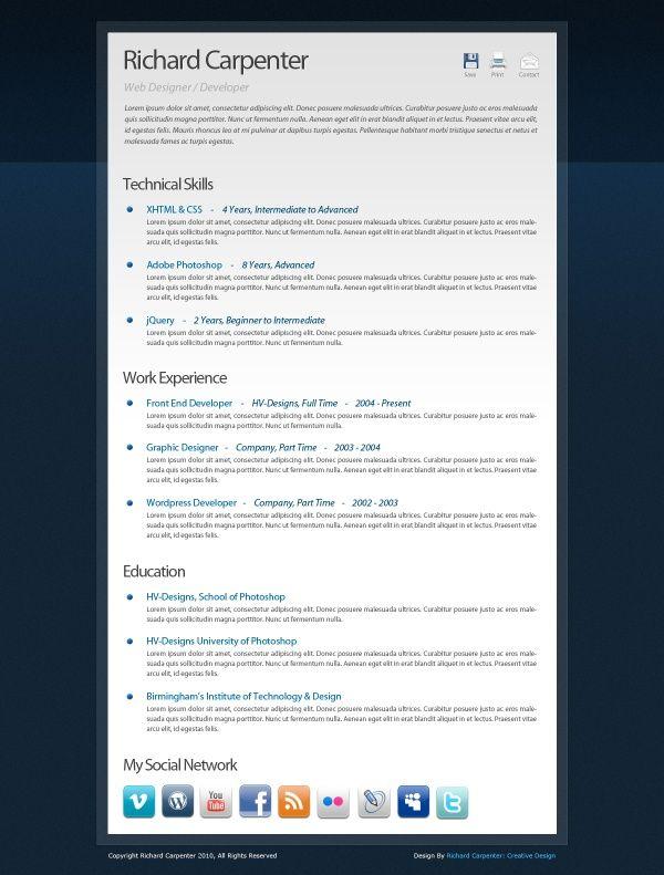 65 best resume templates images on Pinterest Resume templates - really free resume templates