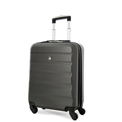 63c6096fa Aerolite 55x40x20 Ryanair Maximum Allowance 40L Lightweight Hard Shell Carry  On Hand Cabin Luggage Suitcase with 4 Wheels, British Airways, Jet2 and  More ...
