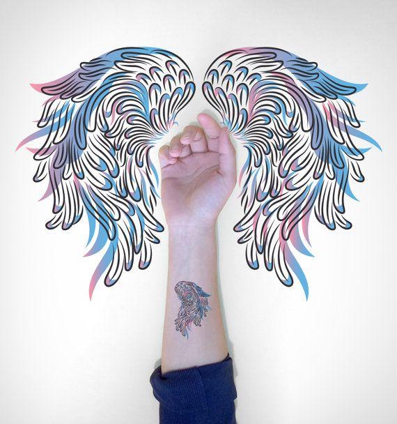 Makeforgood  Wings Temporary Tattoo / Bird Wings by EasternCloud