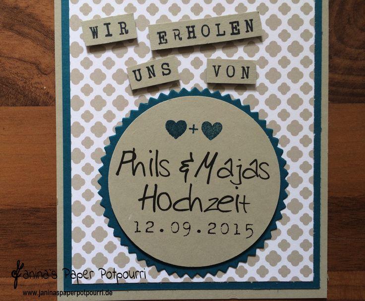 Türanhänger / doorhanger / Hochzeit / Gastgeschenk / give away / Stampin' Up! / DSP Trau Dich / Beeindruckende Buchstaben / Framelits Feuerwerk / Drehstempel Alphabet / Perfekter Tag /  www.janinaspaperpotpourri.de