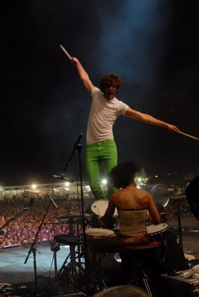 Mika 2007 Love the technicolor trousers but the Valentino suits...oh my!!!