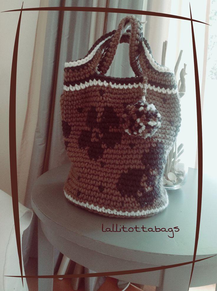 Borsa crochet lana flower s