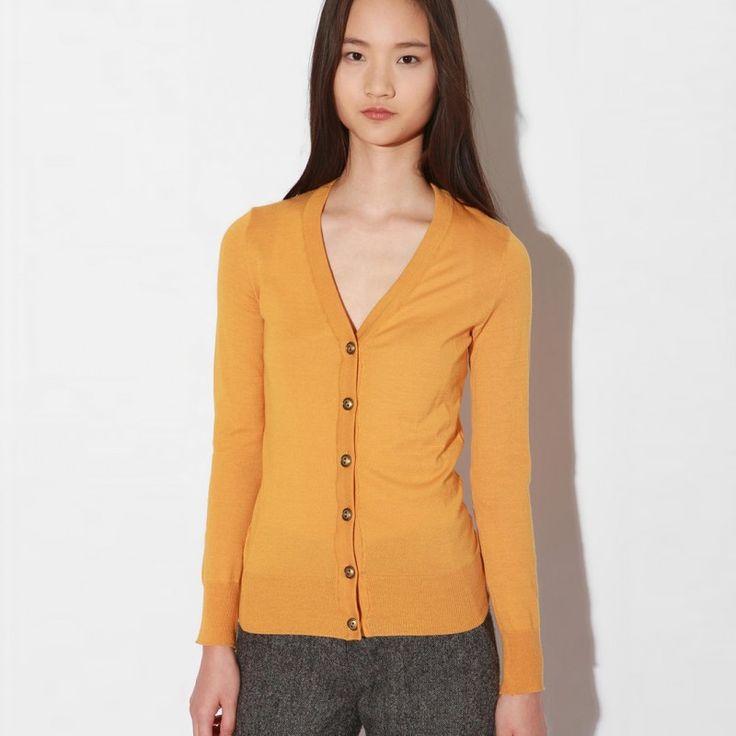 Trendy Mustard Yellow Cardigan