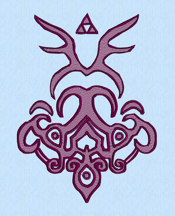 Zelda Twilight Princess Glove design -  machine embroidery by lynellen, $10.00