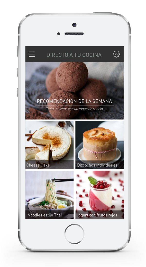 Beautiful food app - crisp, clean and easy for the eye to follow
