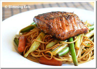 Honey Teriyaki Salmon Slimming Eats Recipe serves 2 Extra Easy –  1.5 syns per serving Ingredients 2 Salmon fillets or steaks 4 tablespoons of dark soy sauce 4 tablespoons of light soy sauce 1 tablespoon of freshly grated ginger 1 clove of garlic, crushed 1 tablespoon of honey (3 syns) little juice from a fresh...Read More »