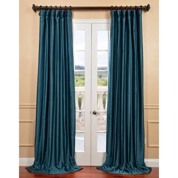 Exclusive Fabrics Fiji Yarn Dyed Faux Dupioni Silk Curtain Panel