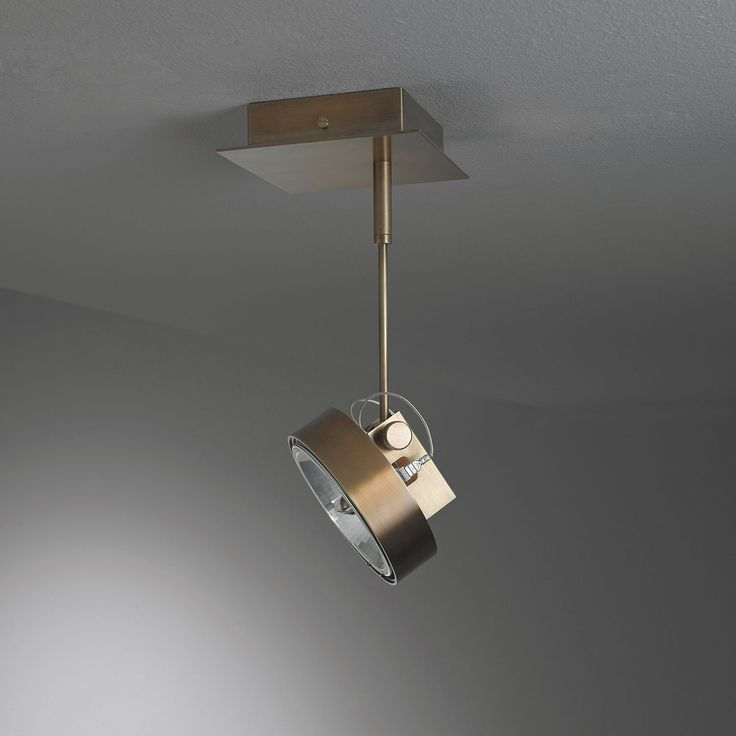 Work Light MA 01. Adjustable hanging spotlight in burnished brass - By Mark Anderson   Laurameroni