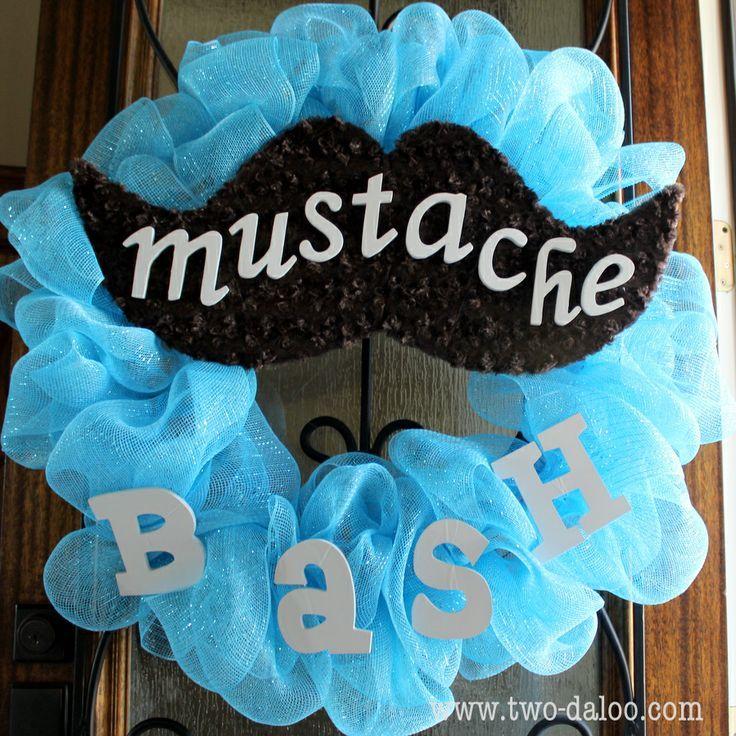 Baby Shower Mustache Theme: Mustache Theme Table Decor